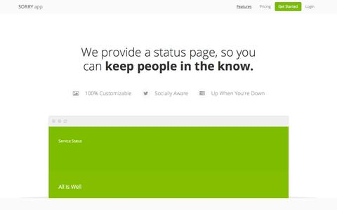 Sorry | The status page company.