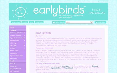 Screenshot of Testimonials Page earlybirds.com.au - Testimonials Earlybirds Australia - Premature Baby Clothing, Premium Earlybirds Baby Wear - captured July 10, 2016