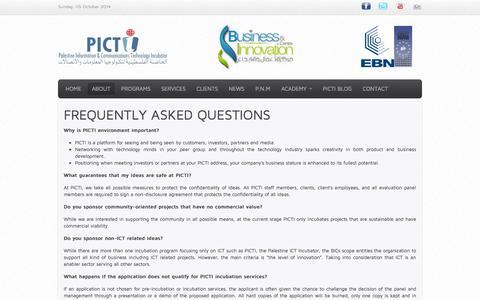 Screenshot of FAQ Page picti.ps - FAQ - captured Oct. 5, 2014