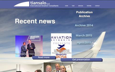 Screenshot of Press Page tiansalo.com - tiansalo news - captured June 16, 2017