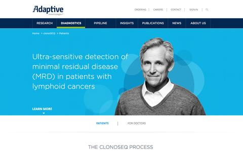 clonoSEQ for Patients | Minimal Residual Disease (MRD) Test | Adaptive Biotechnologies