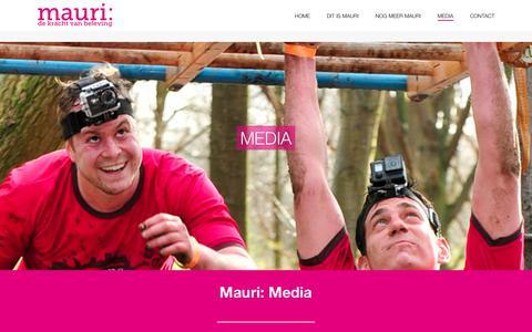 Screenshot of Press Page mauri.nl - media - Mauri: - captured Sept. 20, 2018