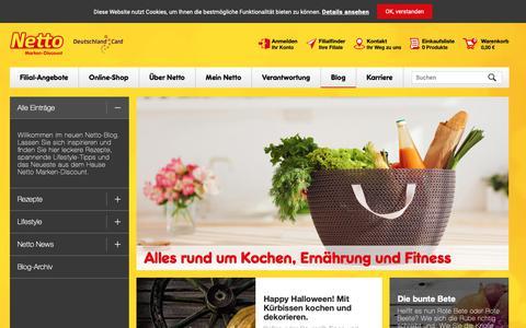 Screenshot of Blog netto-online.de - Netto Blog   Der Netto Blog - - captured Oct. 21, 2018