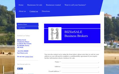 Screenshot of Contact Page initial-website.co.uk - BIZforSALE Jersey Channel Islands buy and sell businesses in Jersey Channel Islands - Contact us - captured July 27, 2016