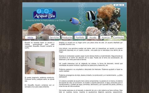 Screenshot of Home Page acquabluacuario.com.ar - AcquaBlu - Acuario - captured June 5, 2016