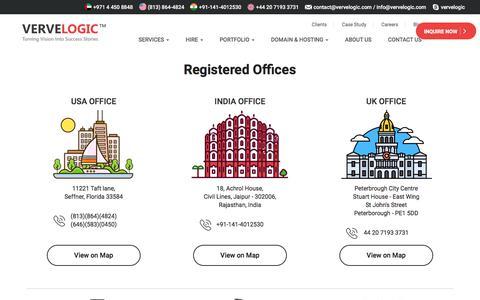Screenshot of Contact Page vervelogic.com - Contact Us - captured Jan. 1, 2018