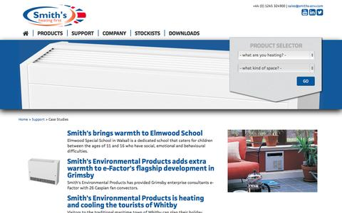 Screenshot of Case Studies Page smiths-env.com - Case Study » Smith's Environmental Products - captured Nov. 4, 2014