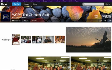 Screenshot of Flickr Page flickr.com - Flickr: WCPE -The Classical Station's Photostream - captured Oct. 25, 2014