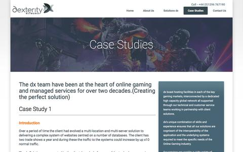 Screenshot of Case Studies Page dx.net - dx.net - captured Aug. 9, 2018