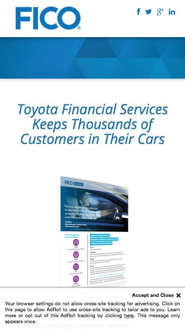 Download the FICO Case Study: Toyota Financial Services Keeps Thousands of Customers in Their Cars