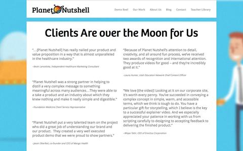 Screenshot of Testimonials Page planetnutshell.com - Planet Nutshell Testimonials - Planet Nutshell - captured Oct. 2, 2014