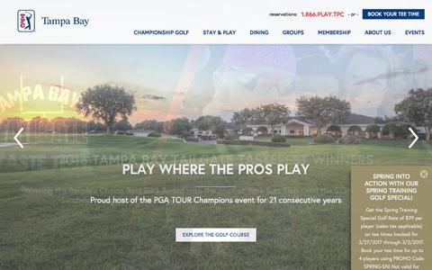 Screenshot of Home Page tpctampabay.com - TPC TAMPA BAY | Tampa, Florida - captured Feb. 27, 2017