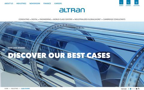 Screenshot of Case Studies Page altran.com - Discover Altran best cases for each industry - Altran - captured Jan. 19, 2018