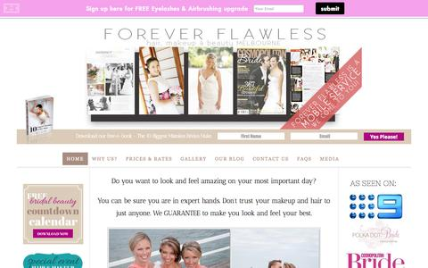 Screenshot of Home Page foreverflawless.com.au - Forever Flawless- editorial | fashion | bridal hair and makeup - captured Sept. 30, 2014