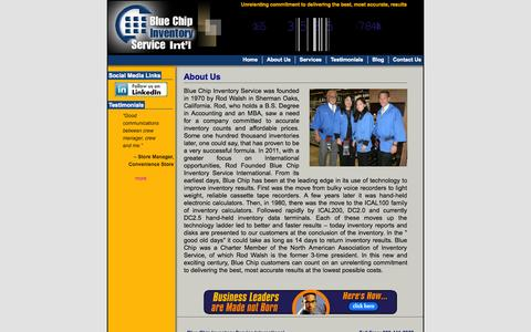 Screenshot of About Page count-it.com - Blue Chip Inventory Service - About Us - captured Oct. 5, 2014