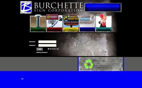 Screenshot of Login Page burchettesign.com - User Log In - captured Oct. 5, 2014