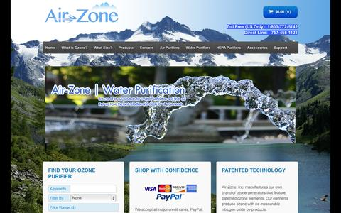 Screenshot of Home Page air-zone.com - Air-Zone - captured Jan. 23, 2015