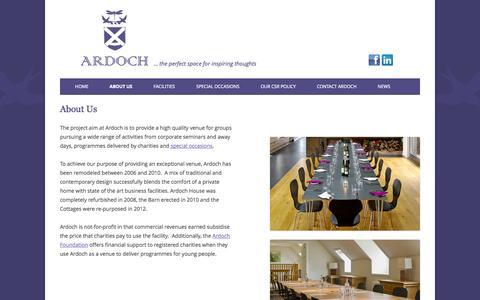 Screenshot of About Page ardoch-scotland.com - About Us | Ardoch Scotland - captured Sept. 30, 2014