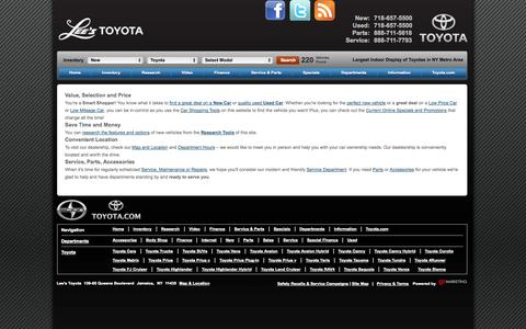 Screenshot of About Page leestoyota.com - About Us - captured Sept. 29, 2014
