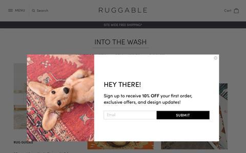 Screenshot of Blog ruggable.com - Into The Wash                – RUGGABLE - captured Nov. 5, 2018