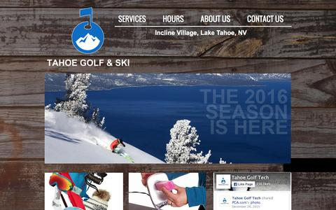 Screenshot of Home Page tahoegolftech.com - Tahoe Golf Tech | Lake Tahoe's Premier Golf Repair Center - captured Feb. 22, 2016
