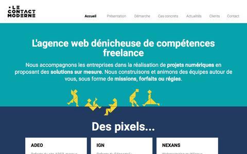 Screenshot of Home Page lecontactmoderne.com - Le Contact Moderne (LCM), des équipes sur mesure pour vos projets numériques - captured May 16, 2017