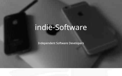 Screenshot of Home Page indie-softwareentwicklung-berlin.de - indie-Software - captured Oct. 13, 2018