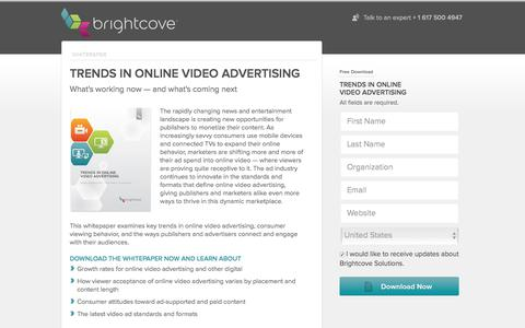 Screenshot of Landing Page brightcove.com - Brightcove | Trends in Online Video Advertising - captured Dec. 17, 2015