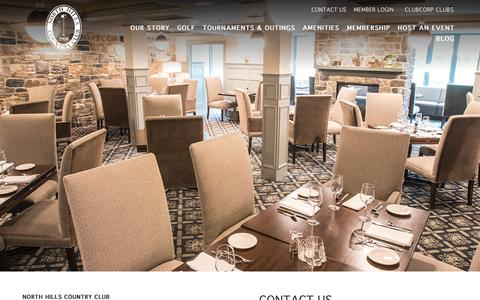 Screenshot of Contact Page clubcorp.com - Contact Us | North Hills Country Club - captured Oct. 23, 2018