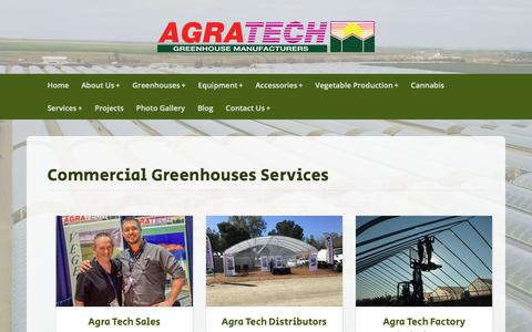 Screenshot of Services Page agratech.com - Commercial Greenhouse Manufacturer | Metal Structure | Vegetable - captured Oct. 23, 2018