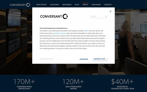 Screenshot of Jobs Page conversantmedia.eu - Join the team! Careers at Conversant and CJ Affiliate - captured May 15, 2018