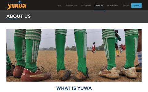 Screenshot of About Page yuwa-india.org - About Us | Yuwa India - captured Oct. 3, 2014