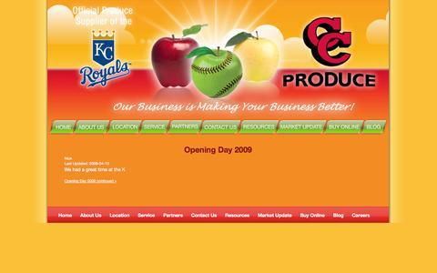 Screenshot of Blog ccproduce.net captured Sept. 26, 2014