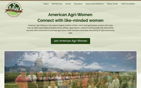 Screenshot of Home Page americanagriwomen.org - American Agri-Women - American Agri-Women - captured July 25, 2016