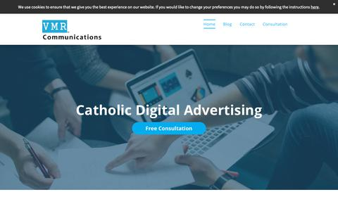 Screenshot of Home Page vmrcommunications.com - VMR Communications - Catholic Digital Advertising - captured Oct. 19, 2018