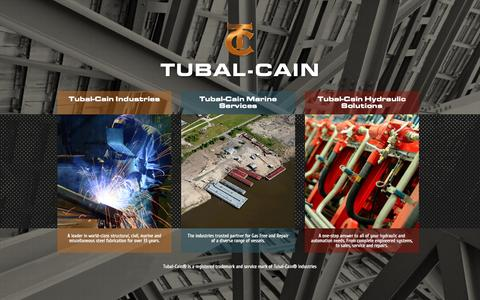 Screenshot of Home Page tchsinc.com - Tubal Cain Hydraulic Solutions | Embracing Technology - captured Oct. 7, 2014