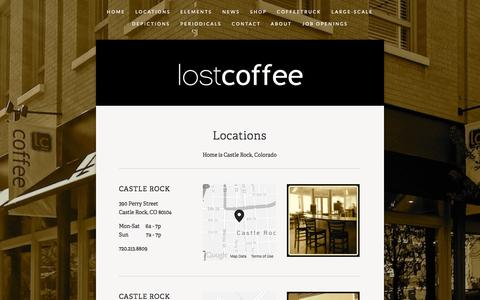 Screenshot of Locations Page lostcoffee.com - Locations — LostCoffee - captured Oct. 28, 2014