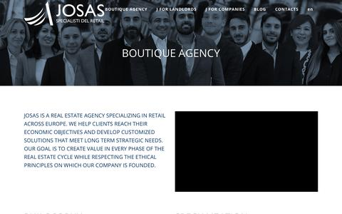 Screenshot of Jobs Page Team Page josasimmobiliare.com - Josas Boutique agency - captured Dec. 7, 2018