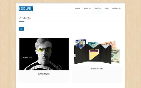 Screenshot of Products Page diglife.no - Products | DIGLIFE - Digital Lifestyle - captured Sept. 30, 2014