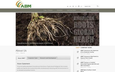 Screenshot of About Page abm1st.com - ABM 1st |   About Us - captured Oct. 4, 2014