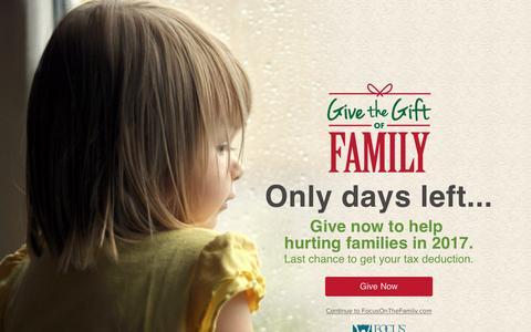 Screenshot of About Page focusonthefamily.com - About Focus on the Family | Focus on the Family - captured Dec. 31, 2016