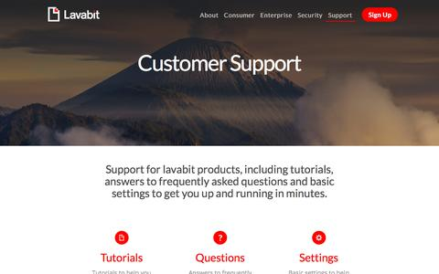 Screenshot of Support Page lavabit.com - Lavabit - captured July 16, 2018