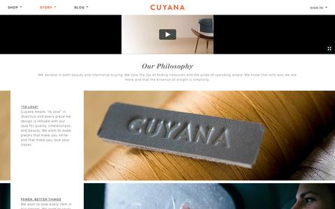 Screenshot of About Page cuyana.com - Cuyana - captured Sept. 13, 2014