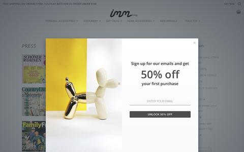 Screenshot of Press Page imm-living.com - Press - Imm Living - captured Nov. 6, 2018