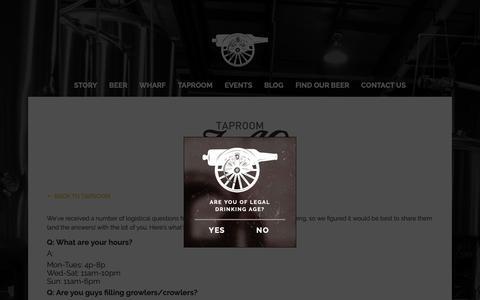 Screenshot of FAQ Page castleislandbeer.com - FAQ – Castle Island Brewing Co. - captured Sept. 27, 2018