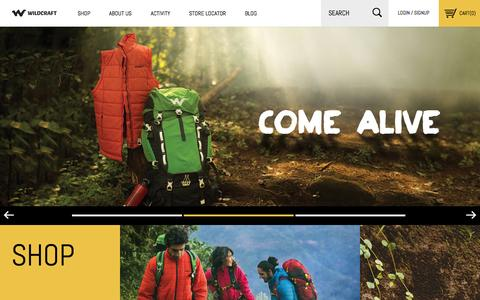 Screenshot of Home Page wildcraft.in - Wildcraft Official Online Store in India - Wildcraft.in - captured Jan. 14, 2015