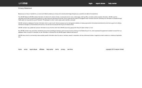 Screenshot of Privacy Page gcwsa.org - uni.me - unlimited free domains - captured Oct. 2, 2014