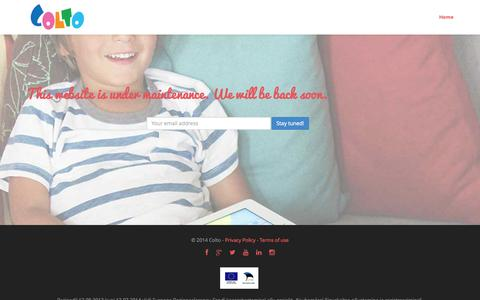 Screenshot of Home Page colto.com - Learning through discovery with Colto games for kids - captured Sept. 22, 2014