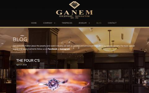 Screenshot of Blog ganemjewelers.com - News and Events - Ganem Jewelers - Fine Jewelry - Phoenix, Arizona - captured July 16, 2018