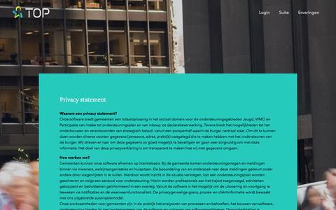 Screenshot of Privacy Page topicusoverheid.nl - Topicus Overheid Platform  » Algemene privacyverklaring - captured Sept. 21, 2018